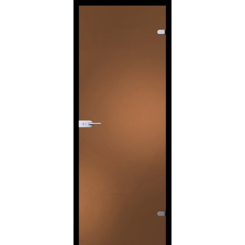 Стеклянная дверь - бронзовое  стекло